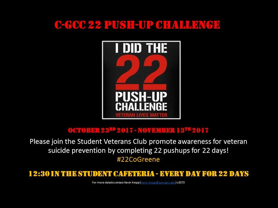 c-gcc 22 push up challenge flyer