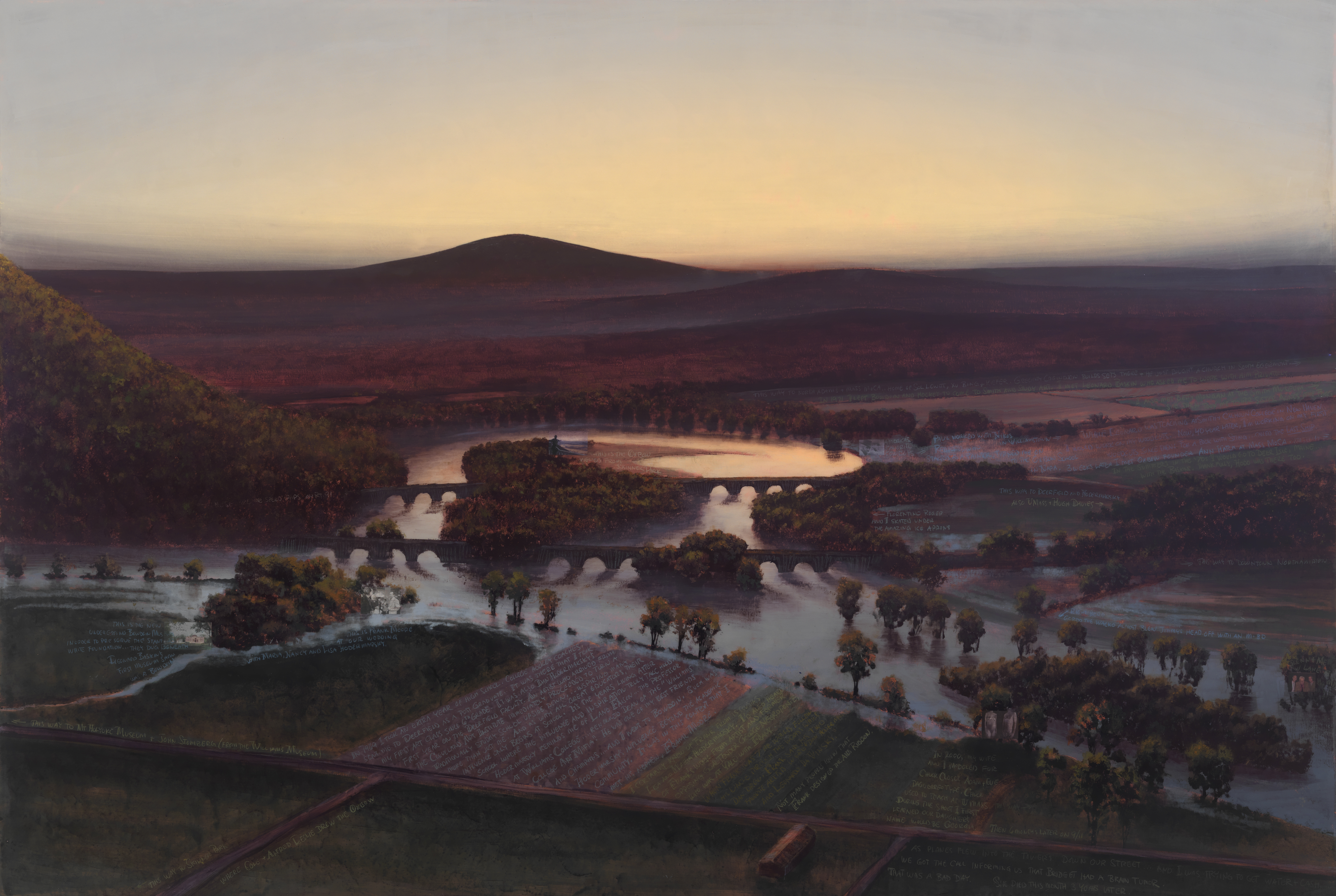 oxbow painting by Stephen bannock