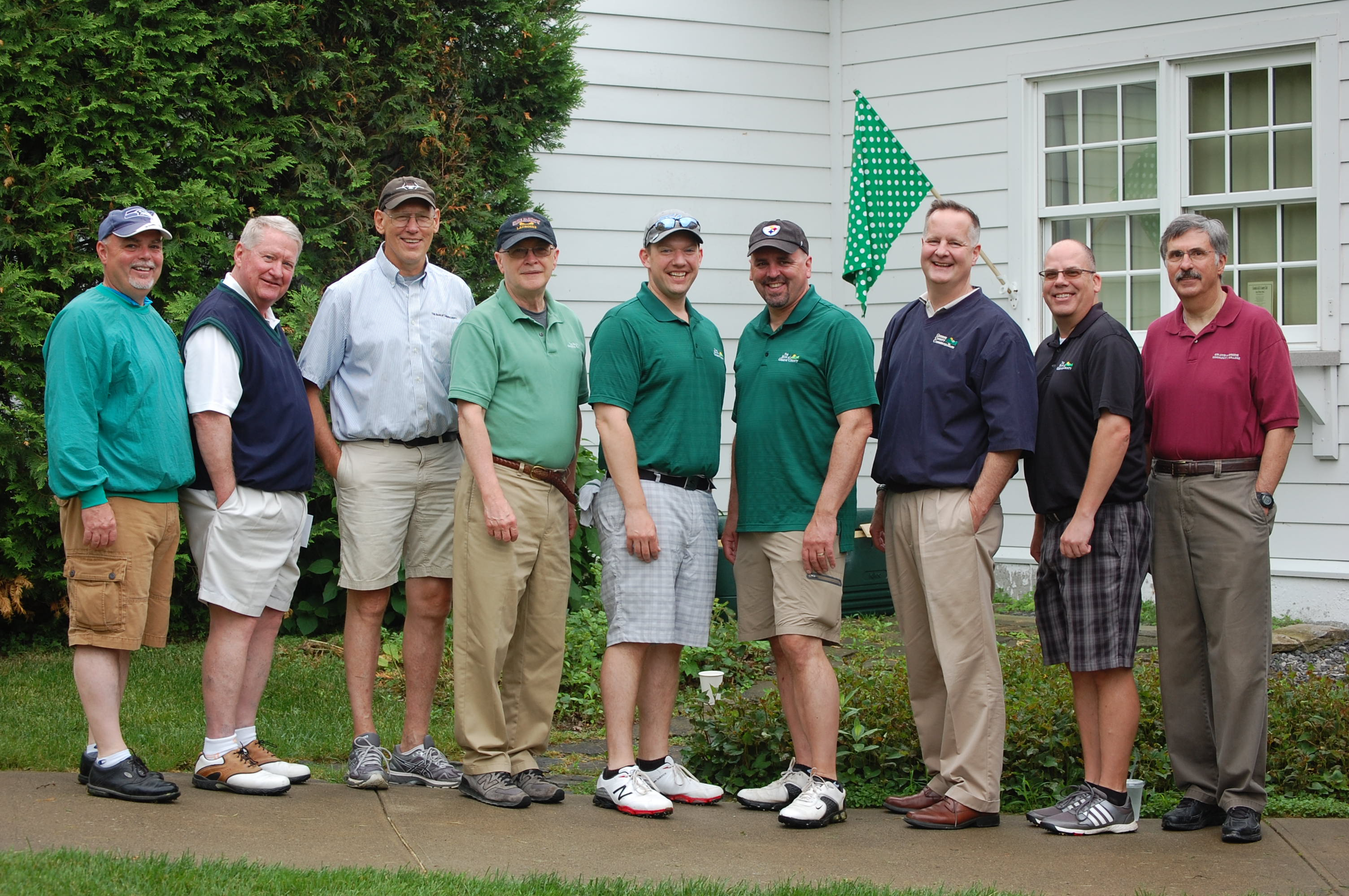 group shot: sponsors at a golf tournament