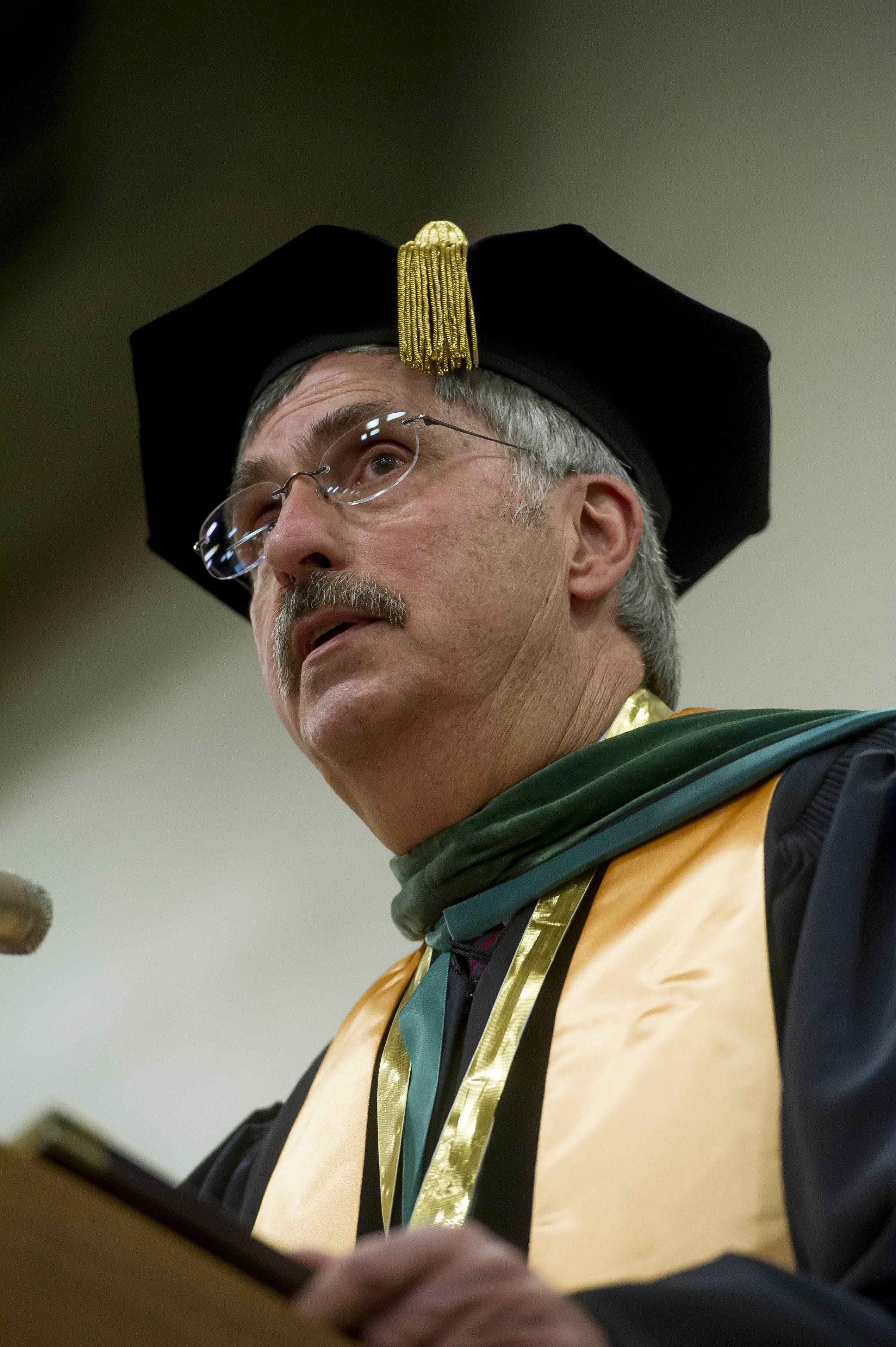 President Campion in robes