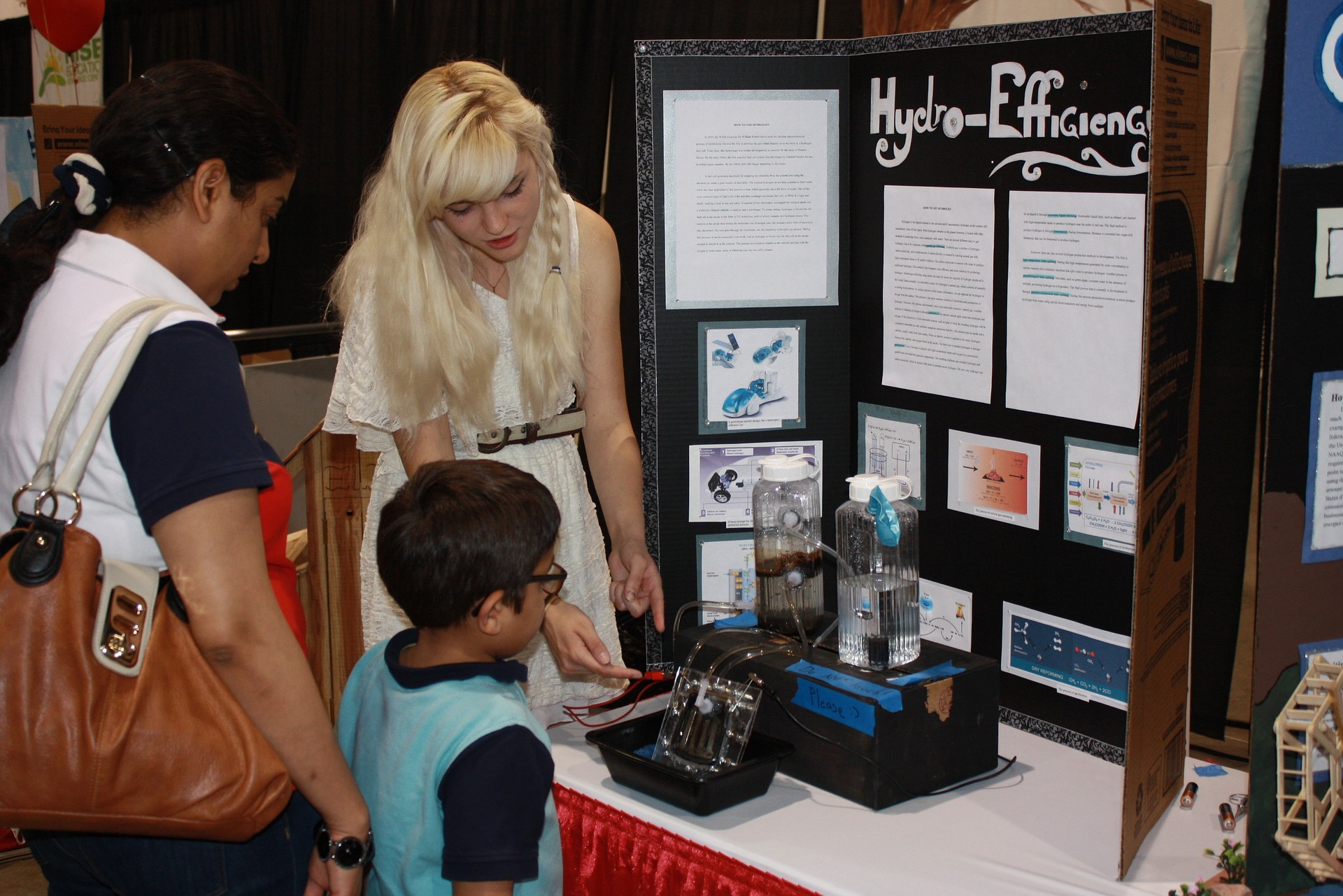 Science Fair participant at booth