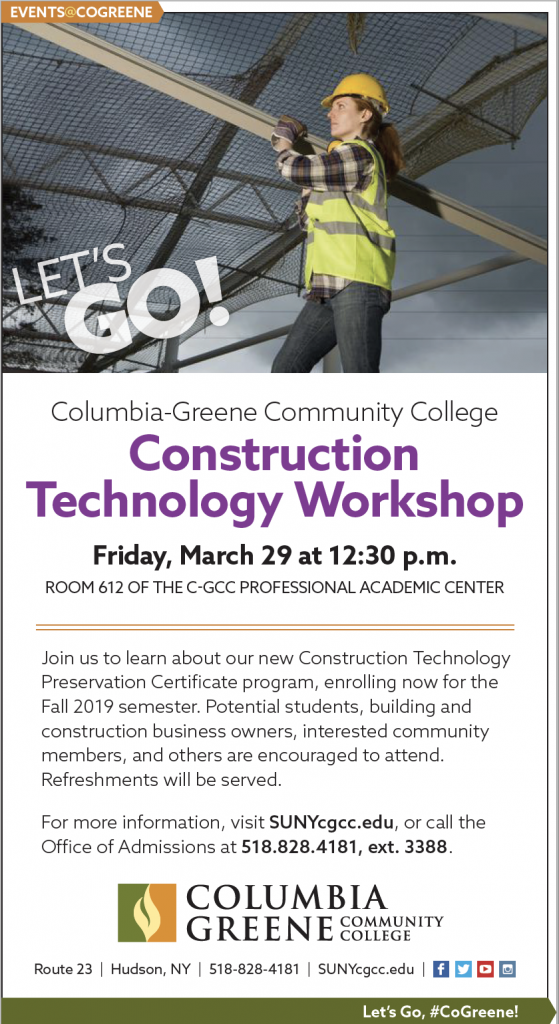 Friday, March 29: Join us for the Construction Technology