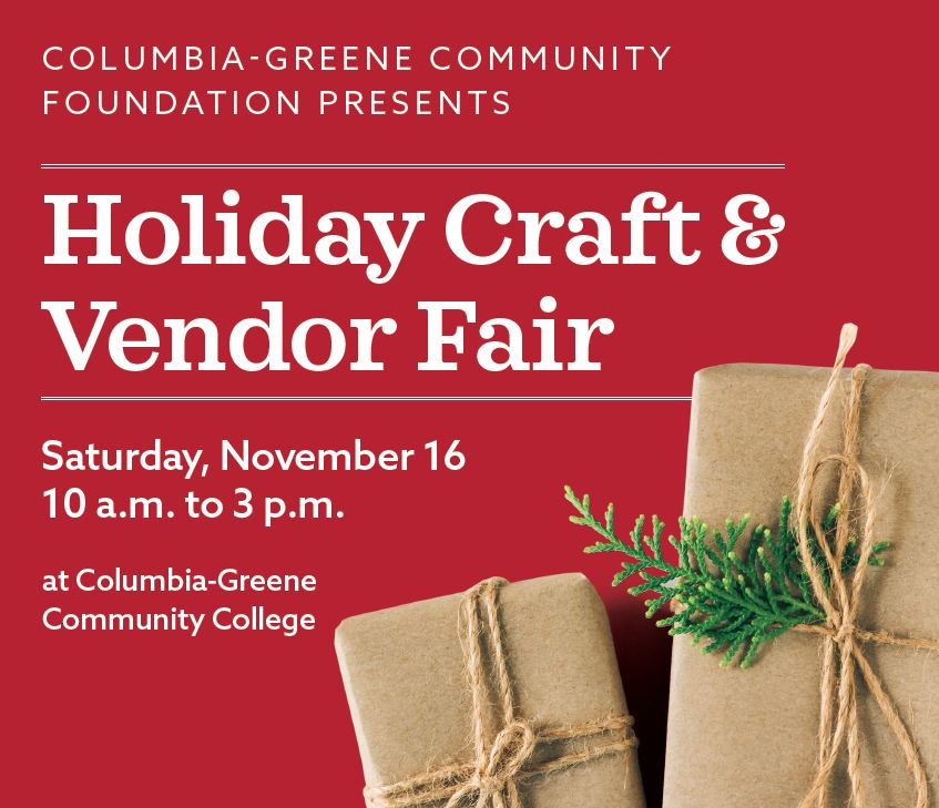 holiday craft fair sign for event on november 16 2019